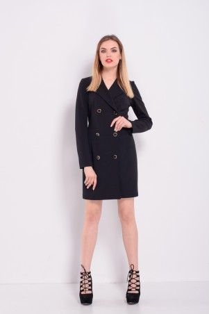 Lilo. Черное короткое платье-пиджак. Артикул: 2329