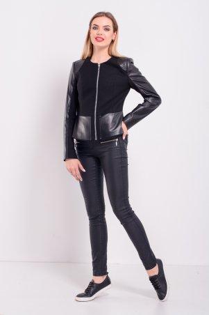 Lilo. Черная короткая куртка с баской. Артикул: 2316