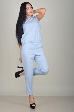 Zanna Brend. Женский летний голубой брючный комбинезон без рукава. Артикул: 686F