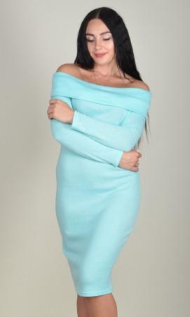 Zanna Brend. Женское платье футляр с длинным рукавом и открытими плечами. Артикул: 693