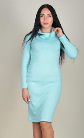 Zanna Brend. Женское платье-футляр мятное с рукавами. Артикул: 693\2