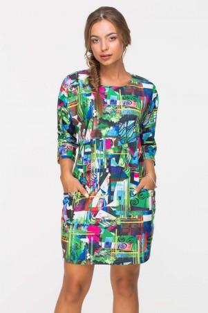 Zefir. Платье прямого силуэта. Артикул: MONE зеленое