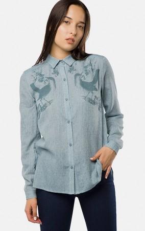 MR520 Women: Рубашка MR 223 2377 0817 Blue - главное фото