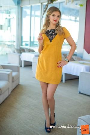 Bisou: Платье горчица 7565 - главное фото