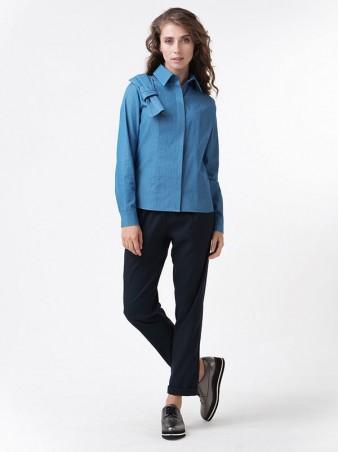 RicaMare. Блуза с бантом из джинсовой ткани RicaMare. Артикул: RM1112-1_11