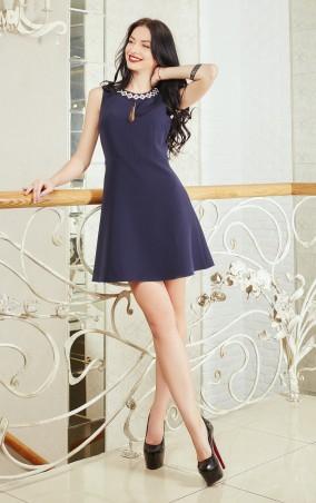 Sauliza. Платье Зефир тёмно-синее. Артикул: 772-3
