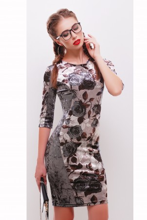 "TessDress. Силуэтное платье ""Жасмин"" Grey. Артикул: 1486"