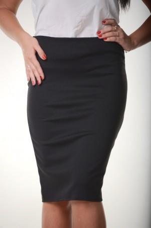 Zanna Brend. Класическая женская юбка-карандаш черного цвета. Артикул: 7504
