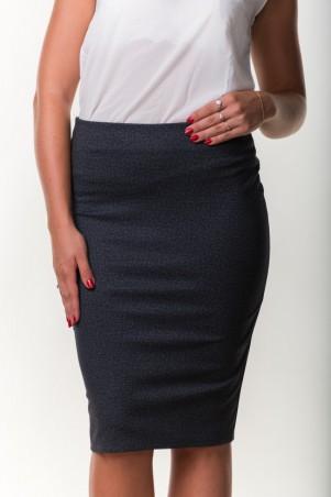 Zanna Brend. Стильная женская юбка-карандаш серого цвета. Артикул: 7502