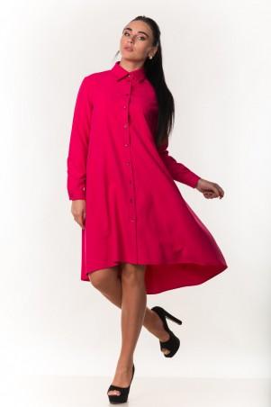 Zanna Brend. Элегантное женское платье-рубашка с длинным рукавом. Артикул: 7299