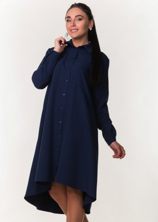 Zanna Brend. Модное платье-рубашка с длинным рукавом. Артикул: 7297