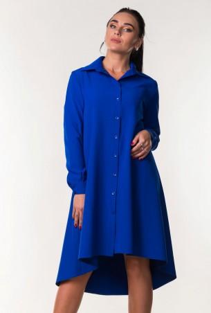 Zanna Brend. Красивое синее платье-рубашка свободного кроя. Артикул: 7296