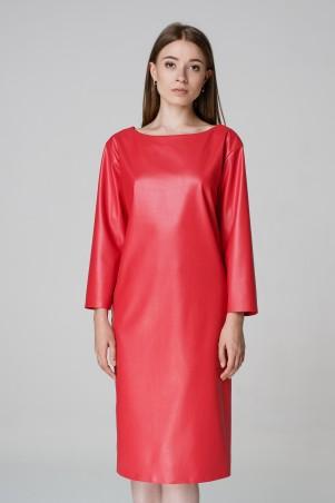 Kaiza. Платье 7915 - КОЖА красный. Артикул: 791517RD415DR