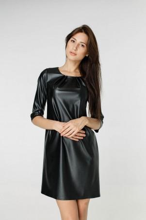Kaiza. Платье 7909 - КОЖА чёрный. Артикул: 790917BL415DR