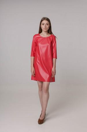 Kaiza. Платье 7883 - КОЖА красный. Артикул: 788317RD415DR
