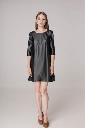 Kaiza. Платье 7883 - КОЖА чёрный. Артикул: 788317BL415DR