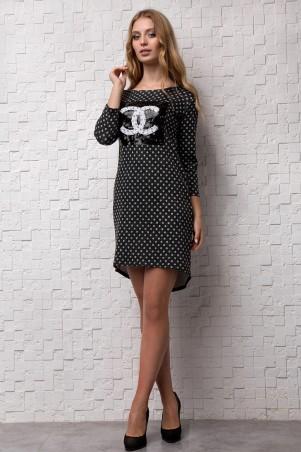 Sauliza. Платье черное. Артикул: 555
