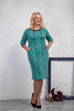 Sauliza. Платье зеленое. Артикул: 7113-1