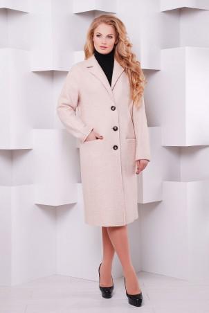 Tatiana. Классическое прямое пальто. Артикул: ВАЛЕНСИЯ пудрово-роз
