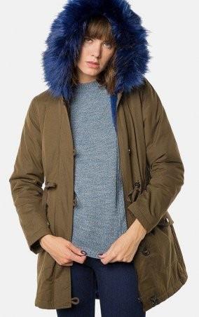 MR520 Women. Куртка парка. Артикул: MR 202 2426 0817 Olive with blue fur
