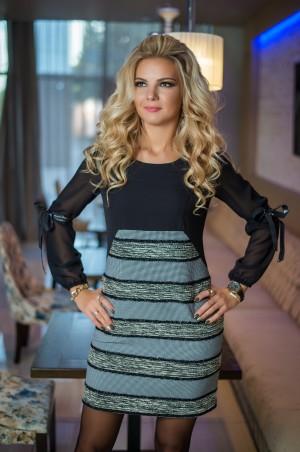 Bisou: Платье с шифоновым рукавом 7716 - главное фото