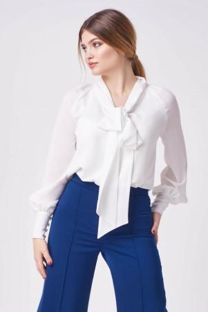 Marterina. Блуза с воротником-бант белая. Артикул: K08BL07KS01