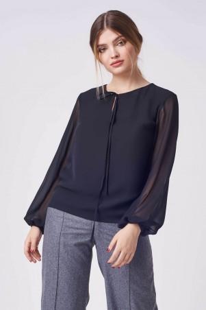 Marterina. Блуза капля черная. Артикул: K08BL08SF19