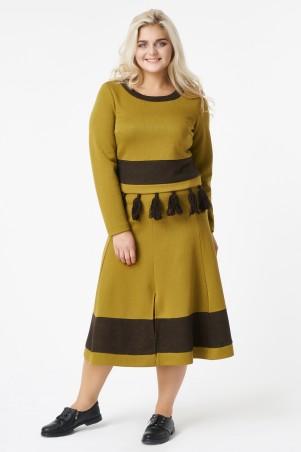 RicaMare. Женский костюм, топ и юбка, большие размеры. Артикул: RM1760-B-17DS