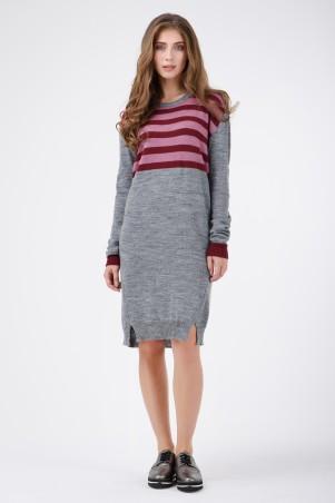 RicaMare. Теплое платье по колено. Артикул: RM1408-B-17DD