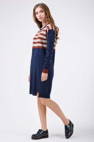 RicaMare. Теплое платье по колено. Артикул: RM1408-17DD