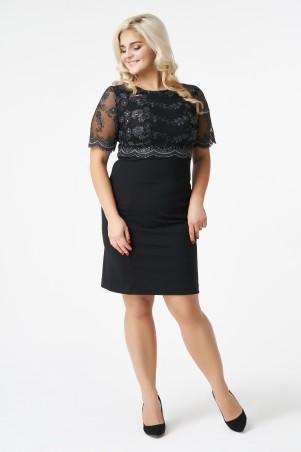 RicaMare. Нарядное платье с вышивкой, большие размеры. Артикул: RM1145-B-17VC