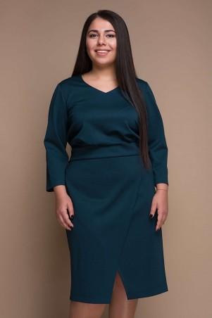 Tatiana. Платье с имитацией запАха. Артикул: КЕЛЛИ малахит