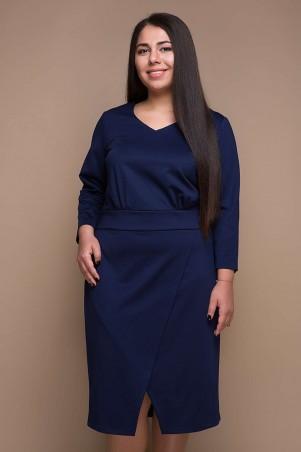 Tatiana. Платье с имитацией запАха. Артикул: КЕЛЛИ темино-синее