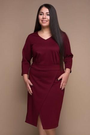 Tatiana. Платье с имитацией запАха. Артикул: КЕЛЛИ бордо