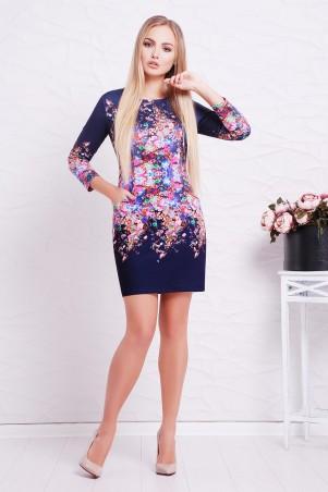 Glem: Платье Фиолетовые цветы  Фрида д/р - главное фото