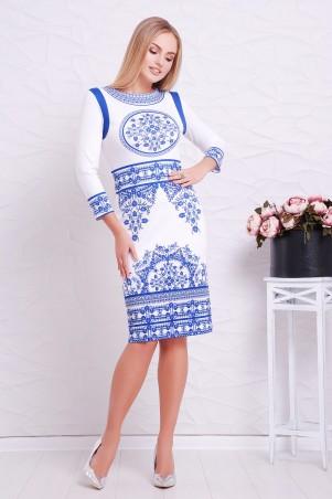 Glem. Платье. Артикул: Синий орнамент  Лия-1Ф д/р