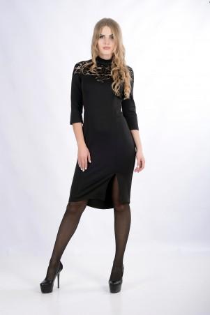 """InRed: Платье """"ESTETKA"""" черное 7286 - главное фото"""