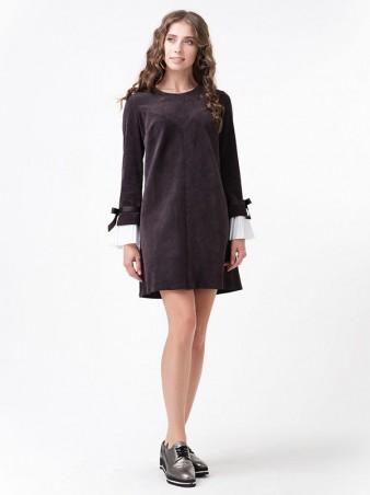 RicaMare. Вельветовое платье с отстежными манжетами. Артикул: RM1120_12