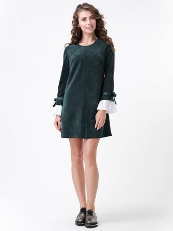 RicaMare: Вельветовое платье с отстежными манжетами RM1120_7 - главное фото