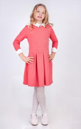 Sauliza. Модное подростковое платье для девочки Нюша коралл. Артикул: 7д7