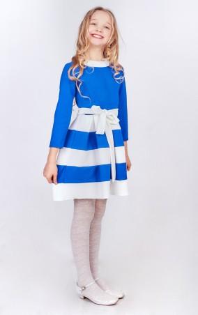 Sauliza. Красивое подростковое платье Ксюша электрик. Артикул: 7д8-1