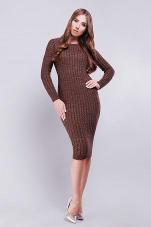 Lerri. Платье 128-1. Артикул: 128-1 темно-коричневый