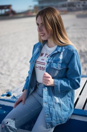 Immagine. Женские джинсовые куртки Мом . Артикул: 1039-270