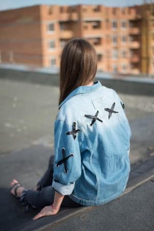 Immagine. Женская джинсовая куртка Мом. Артикул: 03- 016