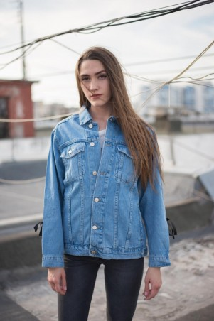Immagine. Женская джинсовая куртка Мом . Артикул: 04-017