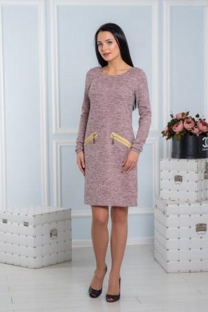 A-Dress. Строгое платье с золотыми молнями. Артикул: 70711