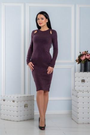 A-Dress. Теплое платье из ангоры сливового цвета. Артикул: 70682