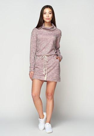 A-Dress: Стильное повседневное платье из розового меланжа 70700 - главное фото