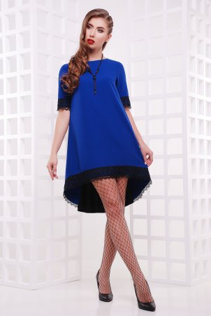 """TessDress: Платье свободного фасона с шлейфом """"Оливия"""" Cobalt 1498 - главное фото"""