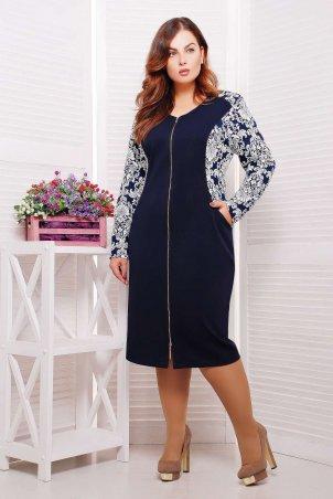 Tatiana: Платье со змейкой и вставками из жаккарда РИТА белое - главное фото